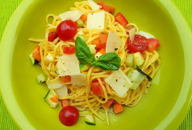 Emilia-Romagna pasta recipe tagliolini with marinated vegetables