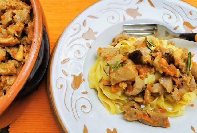 tagliatelle with rabbit ragu