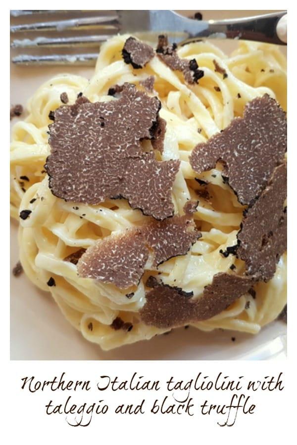 Tagliolini with taleggio and black truffle