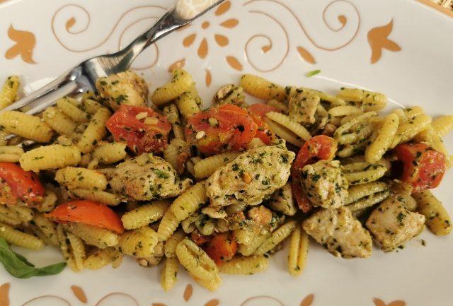 tuna and pesto malloreddus (sardinian gnocchi)