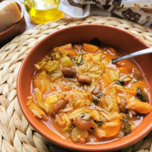 Tuscan minestrone with orzo pasta