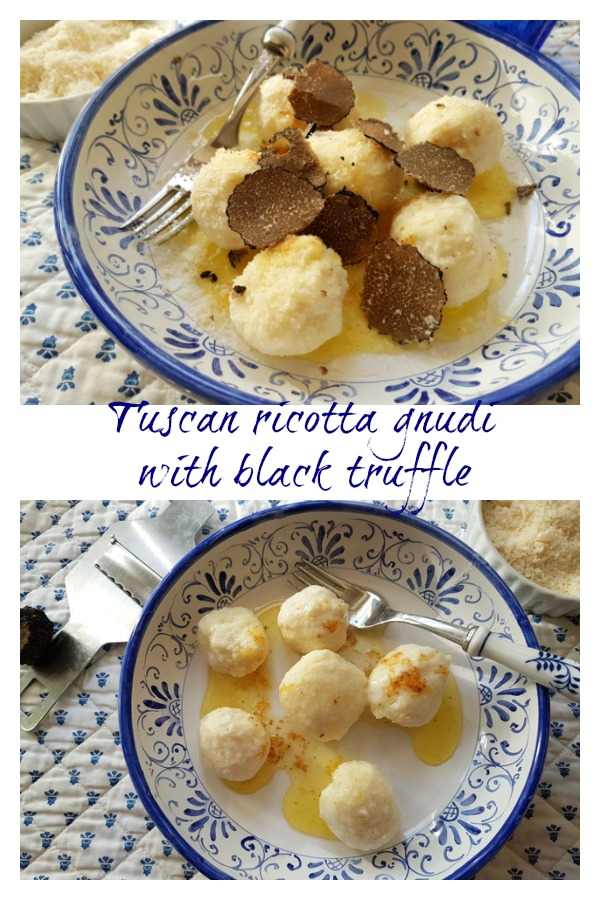 Tuscan ricotta gnudi with black truffle