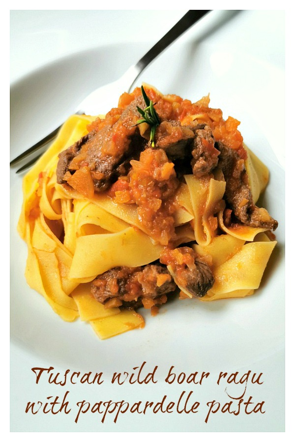 Tuscan wild boar ragu with pappardelle