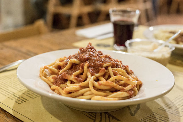 handmade pici pasta tuscany