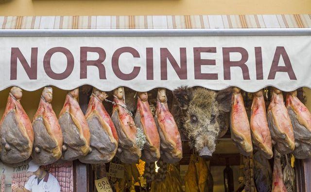 Norcineria in Norcia, Umbria