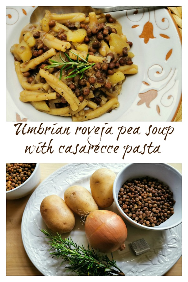 Roveja wild pea soup with pasta recipe from Umbria