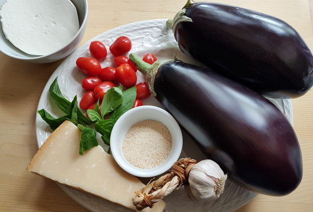 ingredients for anelletti pasta eggplant boats