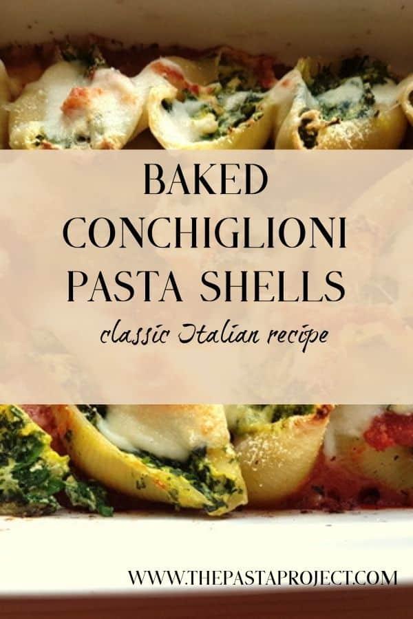 Baked Conchiglioni Pasta Shells