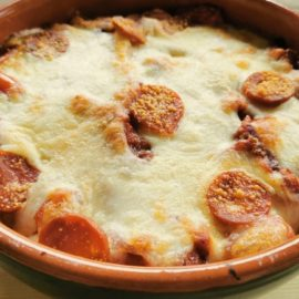 baked ziti pasta with spicy sausage