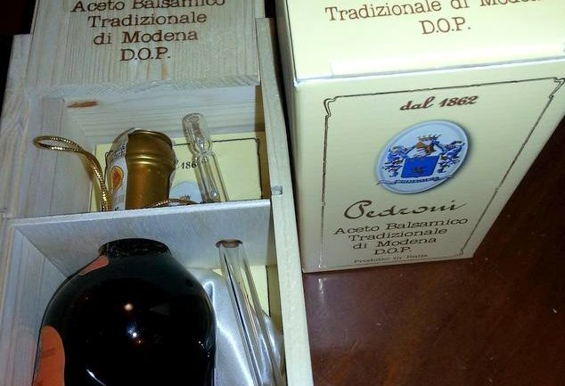 aged balsamic vinegar bought in Modena