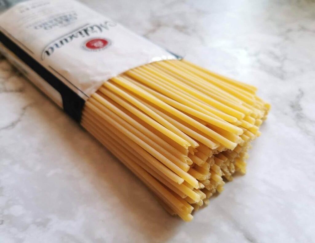 bucatini pasta from La Molisana.