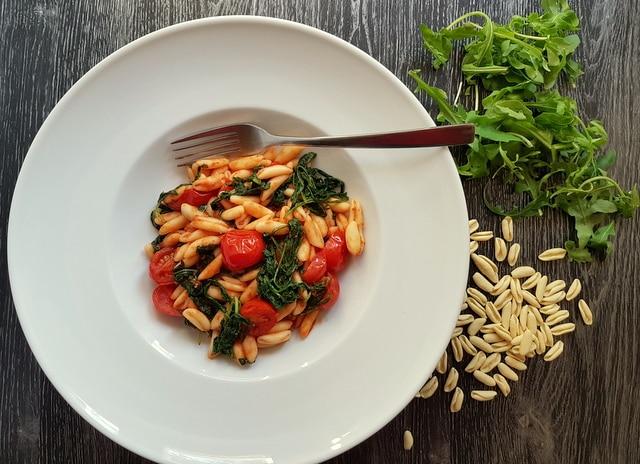 cavatelli with rocket arugula pasta recipes from Puglia