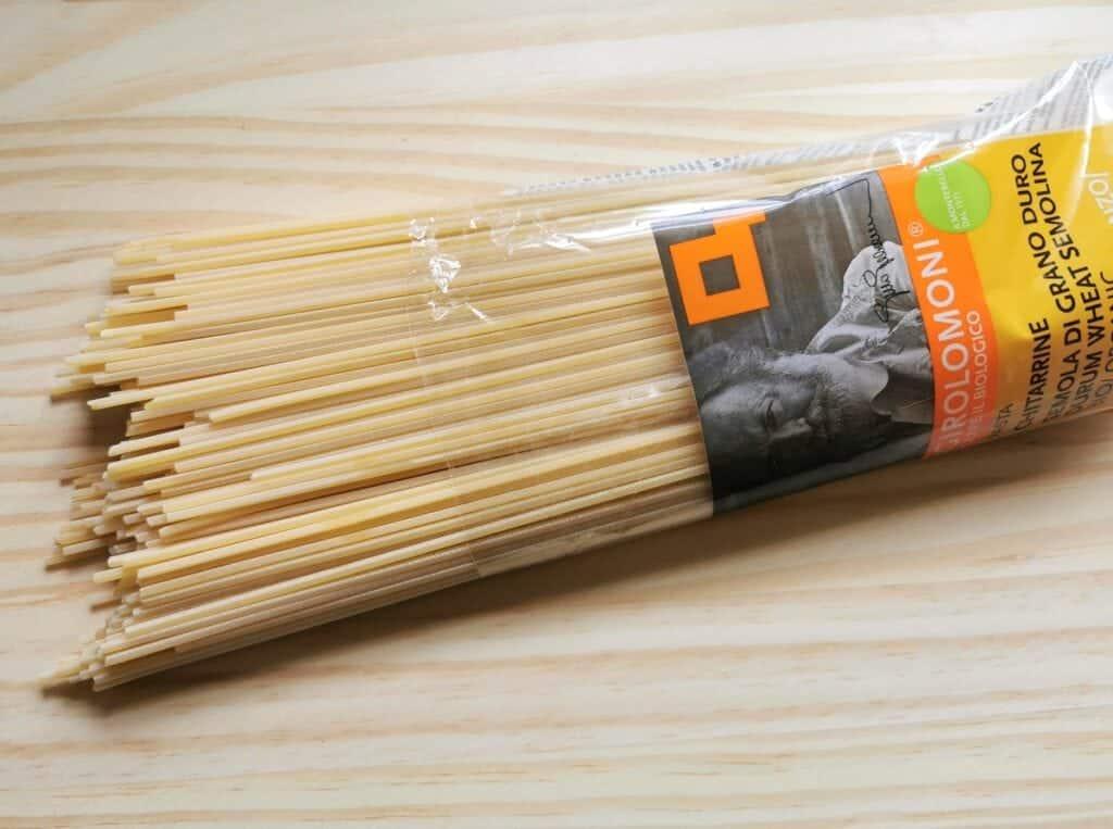 Chitarrine pasta from Girolomoni