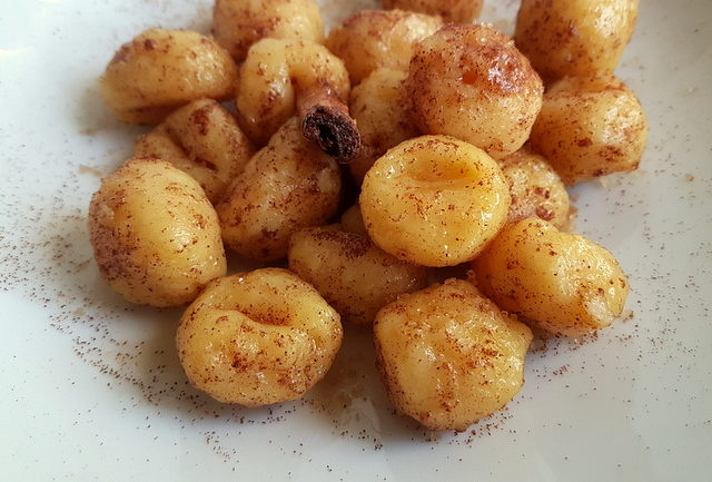 cinnamon butter gnocchi carnival recipe from Veneto