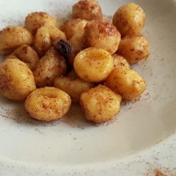 cinnamon butter gnocchi carnival recipe from Veneto