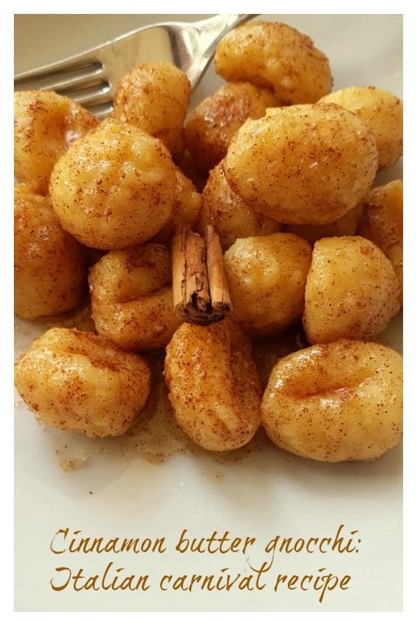 cinnamon butter gnocchi