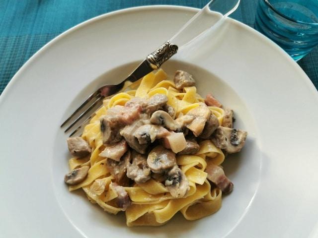 tagliatelle alla castellana recipe from the Italian Dolomites