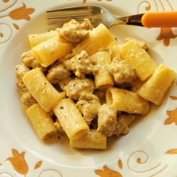 sausage and saffron pasta alla monzese