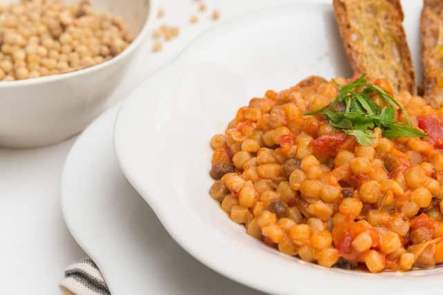 Sardinian fregola with tomato sauce