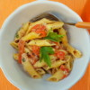 Garganelli pasta alla Zingara with peppers and mushrooms