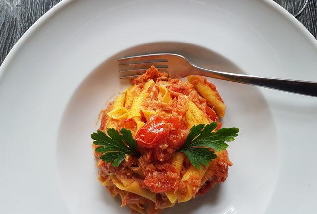 Emilia-Romagna pasta recipe pasta with tuna bolognese