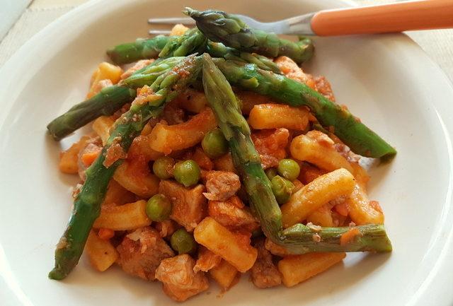 gargati pasta with spring ragu