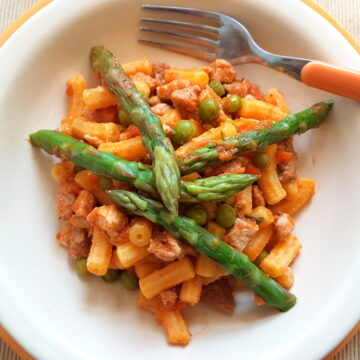 gargati with spring ragu