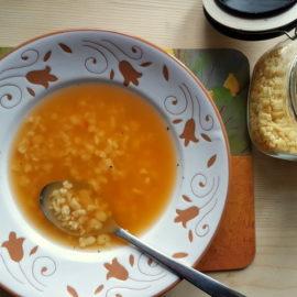 grattoni-grattini pasta for soup in vegetable broth