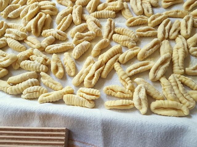 homemade cavatelli pasta