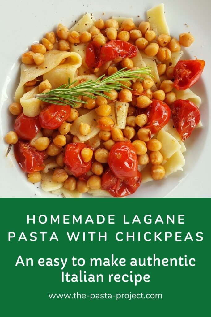 lagane pasta with chickpeas.