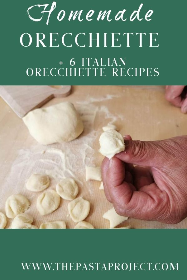 homemade orecchiette with 6 Italian orecchiette recipes Pinterest image