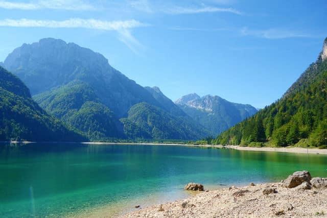 Lago del Predil (Predil Lake), Julian Alps, Tarvisio.