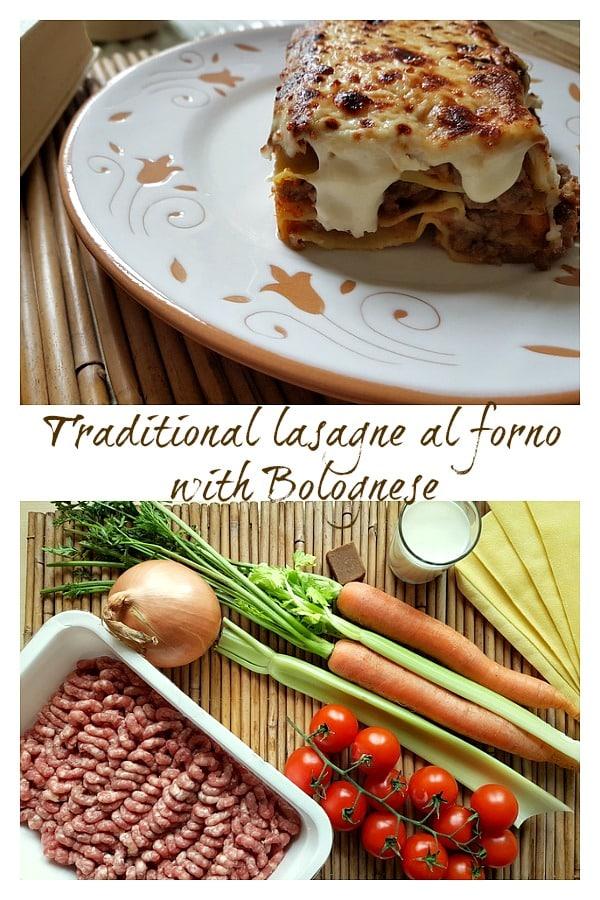lasagne al forno with bolognese