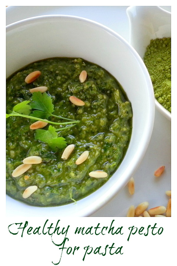 matcha pesto long image