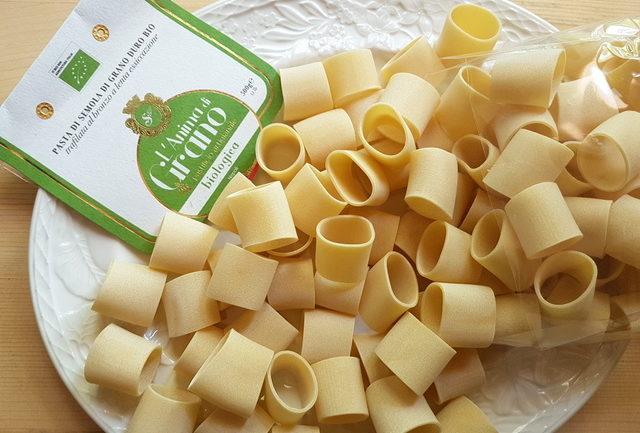 organic mezzi paccheri made by Pastificio Sorrento in Gragnano