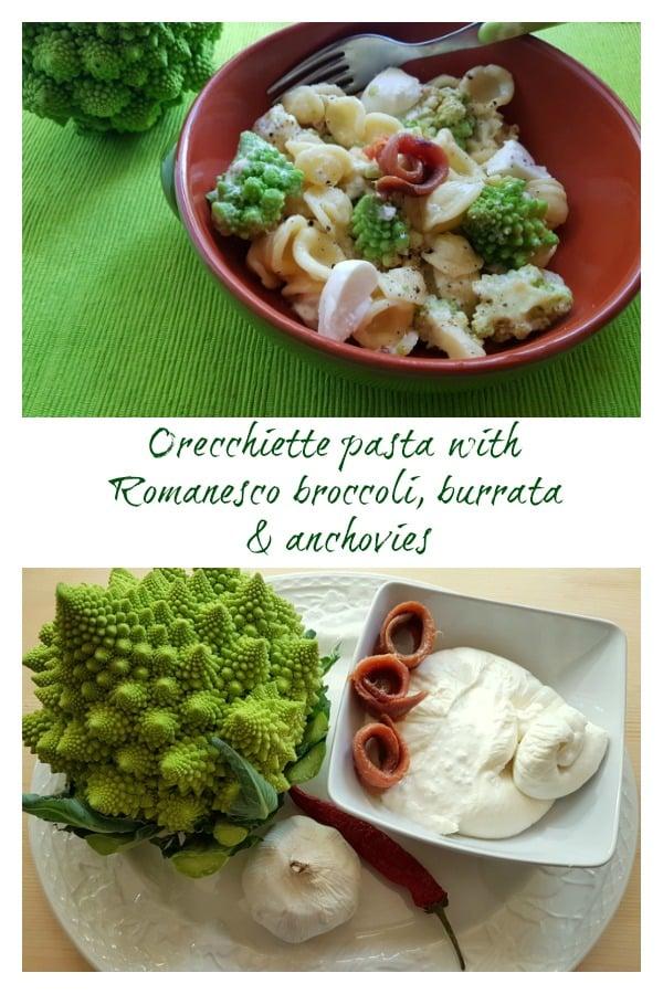 orecchiette pasta with Romanesco broccoli