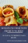 paccheri pasta with fresh tuna ragu