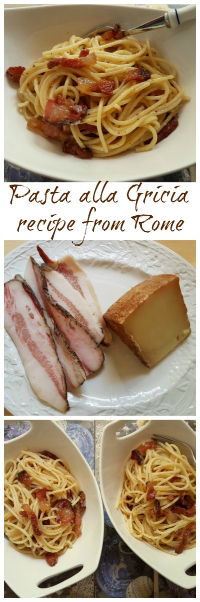 pasta alla gricia recipe from Rome