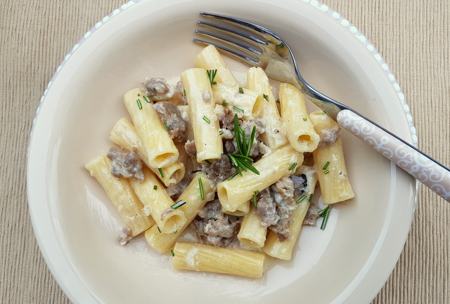 pasta with sausage alla Norcina