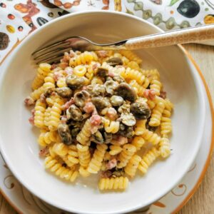 pasta with fava beans and pancetta
