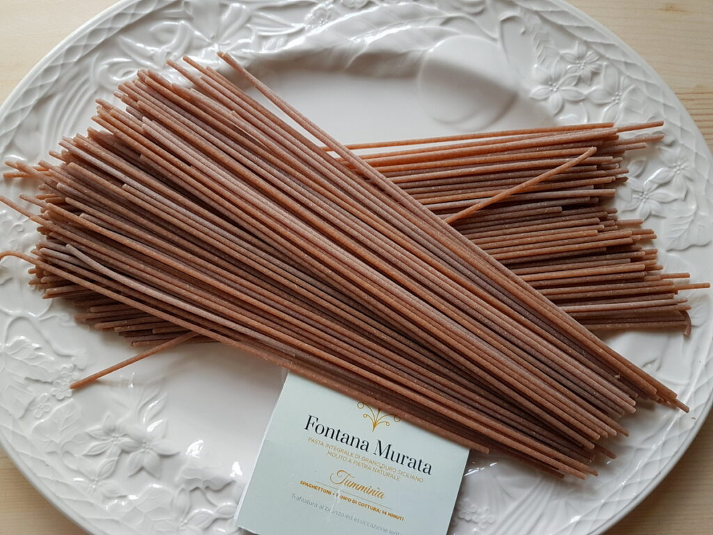 tumminia whole-wheat spaghettoni from Fontana Murata, Sicily