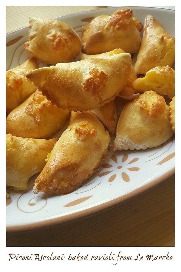 piconi ascolani baked ravioli from Le marche