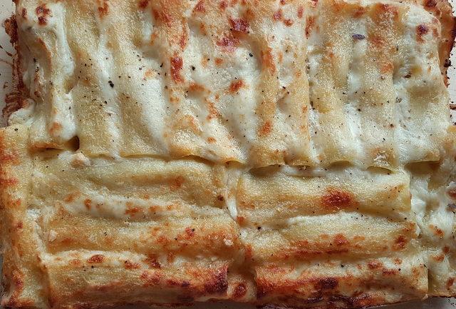 potato and porcini mushroom cannelloni (manicotti)