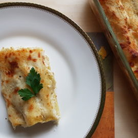 potato and porcini mushroom cannelloni (manicotti)