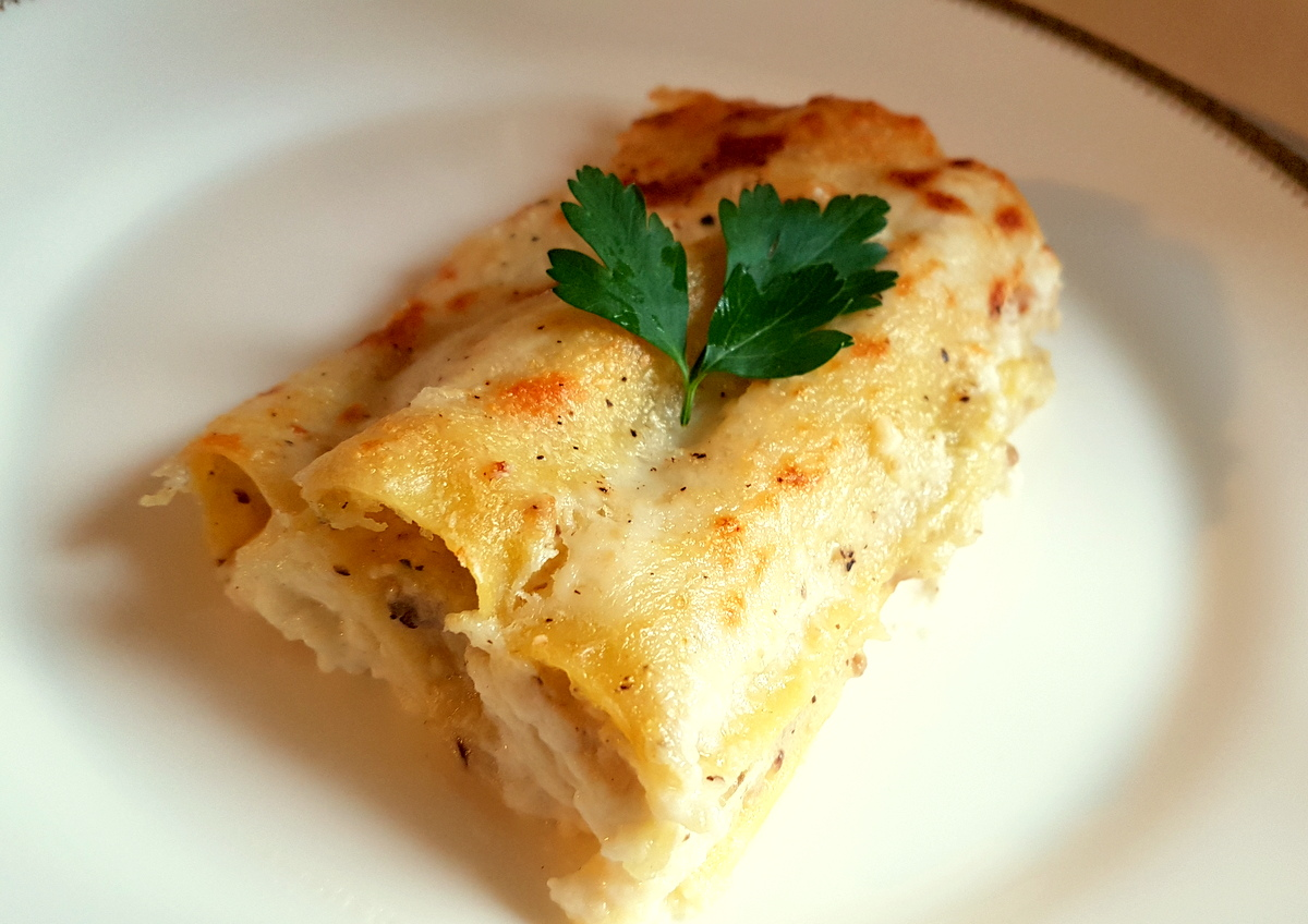 potato and porcini cannelloni (manicotti)