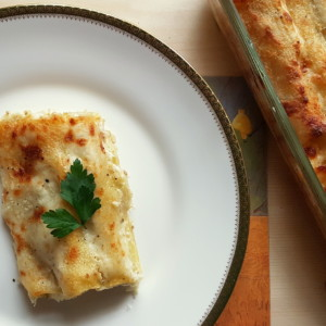 potato and porcini mushroom cannelloni