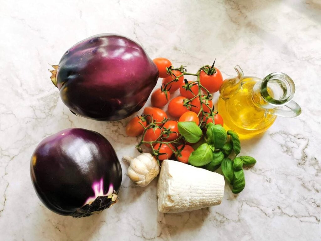 ingredients for pasta alla Norma