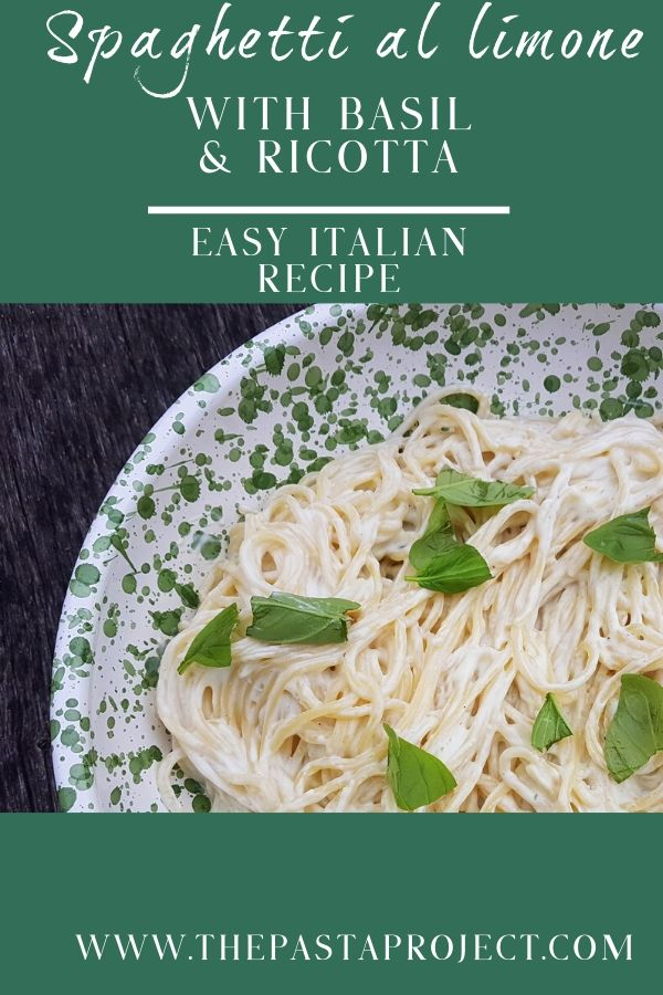 spaghetti al limone with basil and ricotta