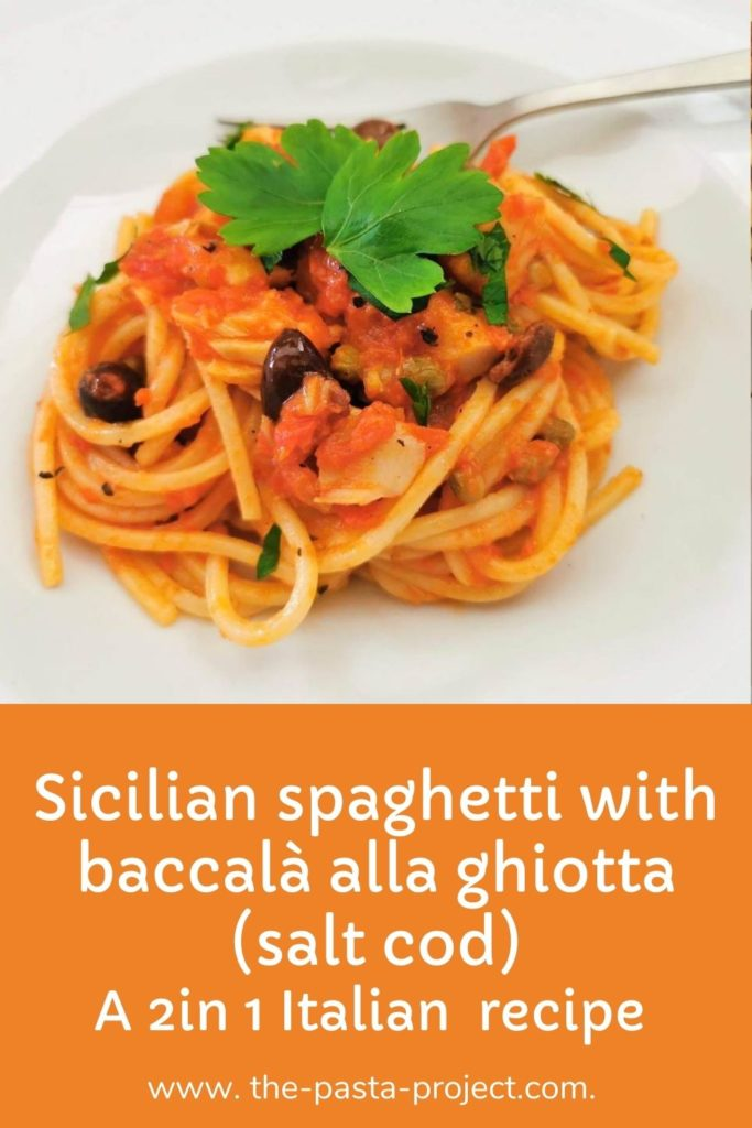 spaghetti with salt cod (baccalà) alla ghiotta
