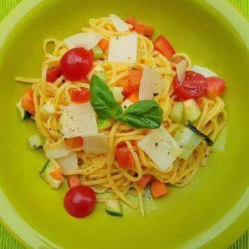 summer tagliolini pasta
